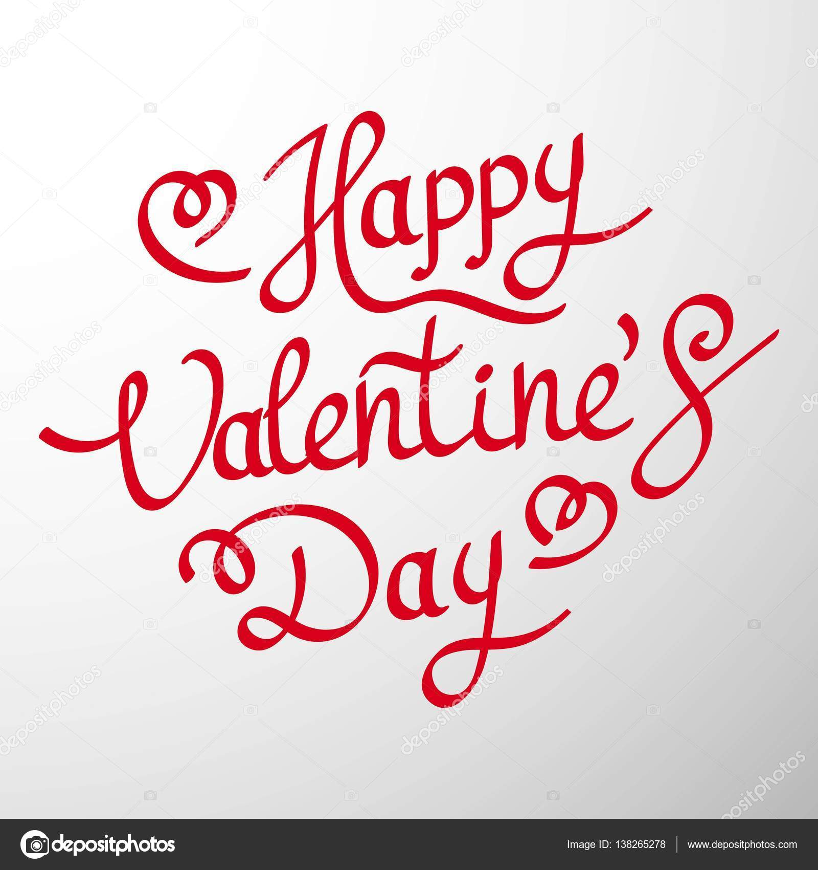 1600x1700 Happy Valentines Day Hand Drawing Vector Lettering Design