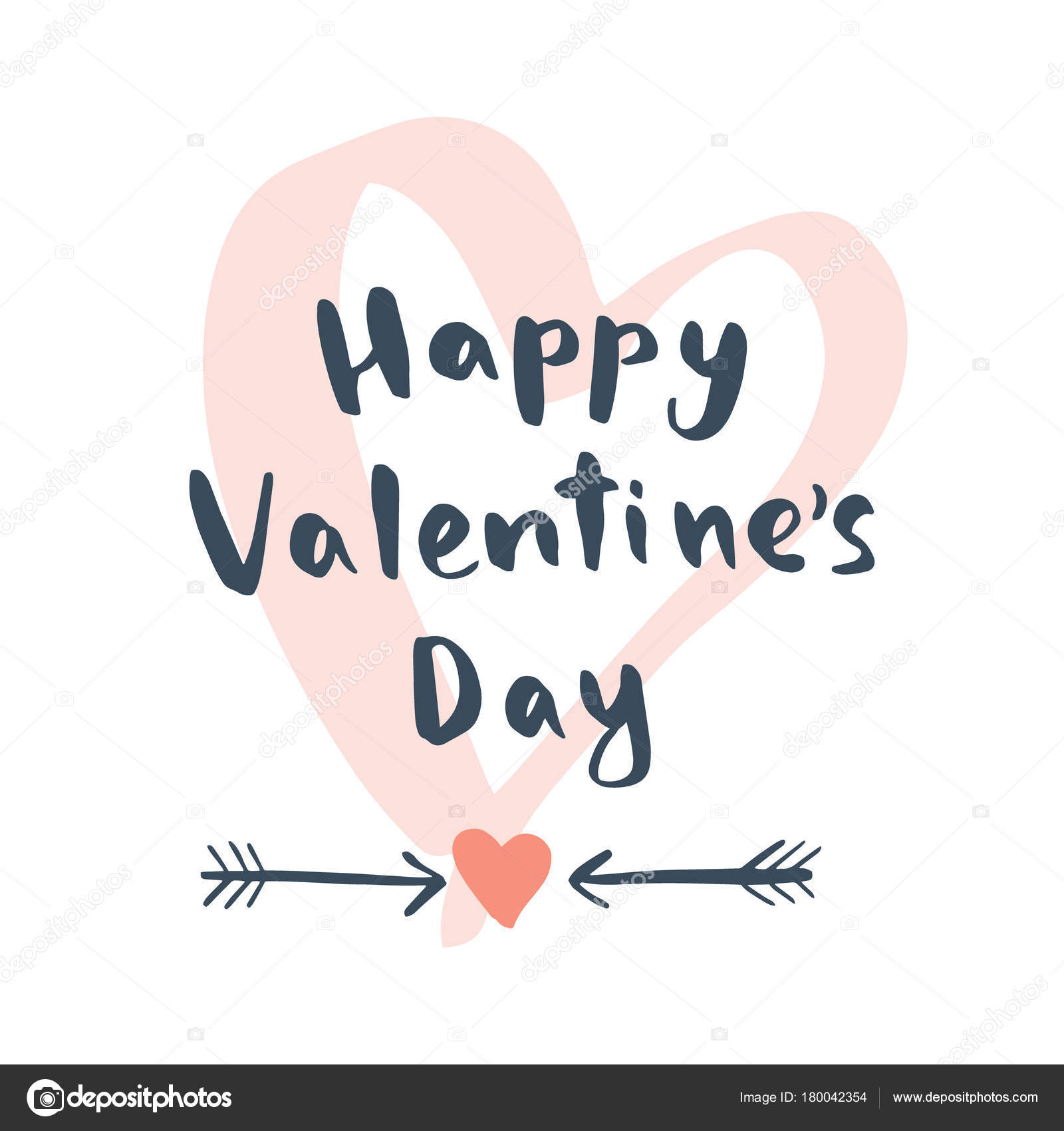 1600x1700 Happy Valentines Day Hand Drawing Vector Lettering Design Vector