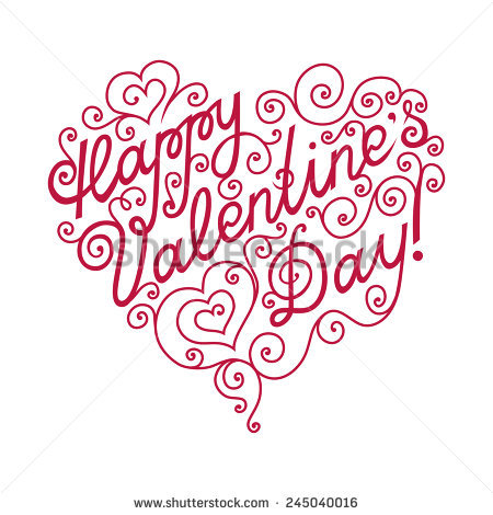 450x470 Happy Valentines Day Pictures To Draw Lettering Clipart Drawing 12