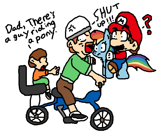 554x464 Happy Wheels Meets Mario And Mlp By Icepony64
