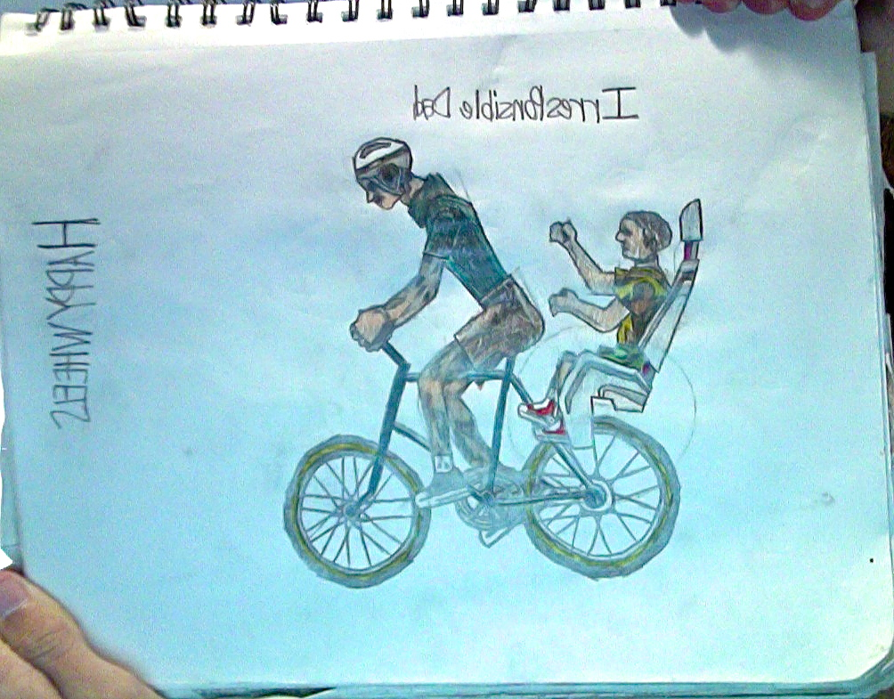 1004x785 Irresponsible Dad + Son From Happy Wheels Drawing By Tannmann64