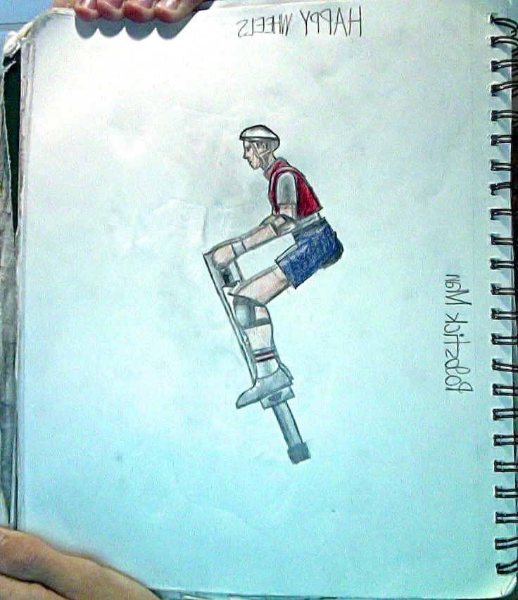 736x853 Pogostick Man From Happy Wheels Drawing By Tannmann64