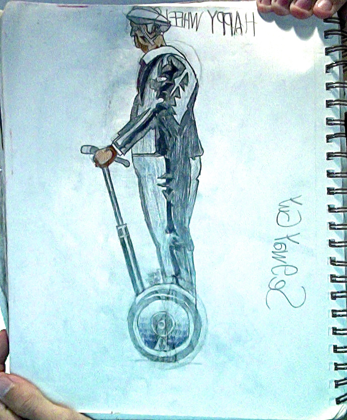 689x834 Segway Guy From Happy Wheels Drawing By Tannmann64