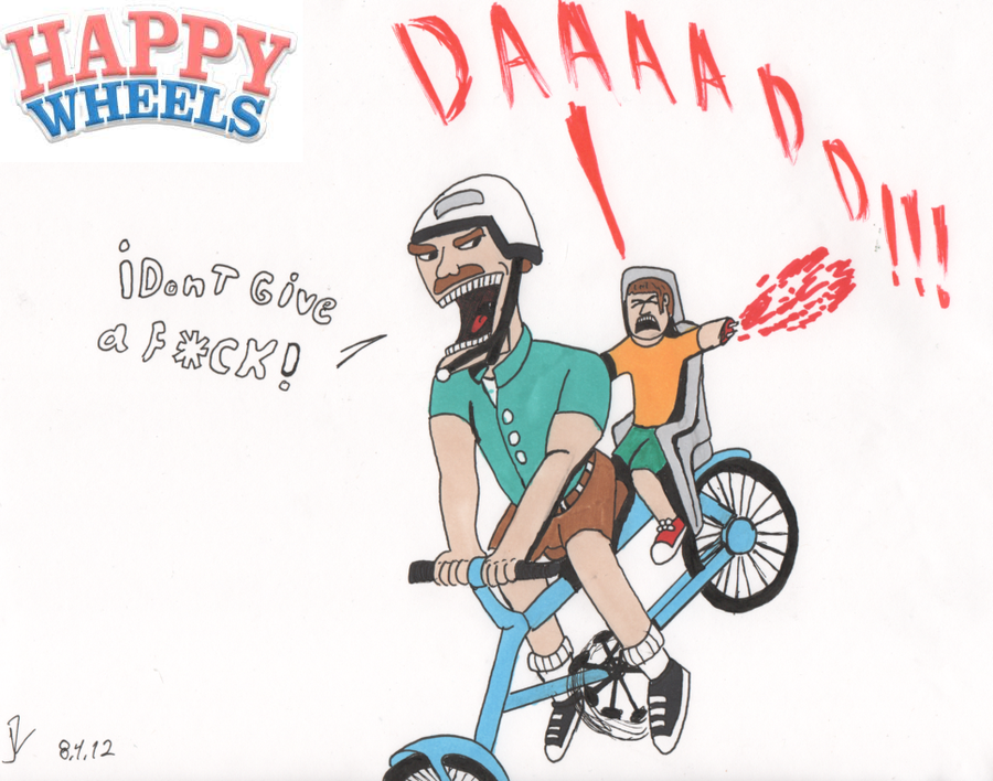 900x708 The Irresponsible Dad (Happy Wheels) By Valtheknight