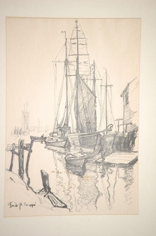500x754 Emile A. Gruppe Black Pencil Drawing