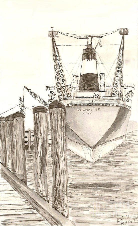 551x900 Portsmouth Harbor Drawing By Kristin St Hilaire