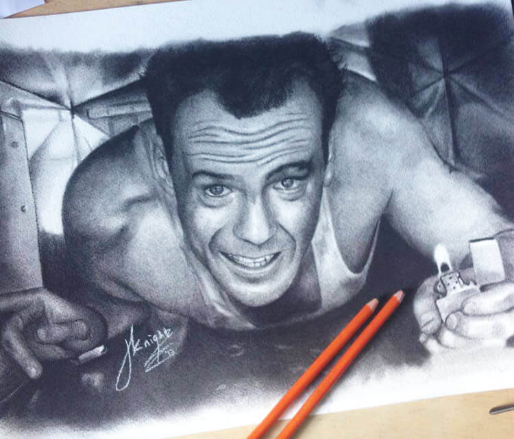 750x640 Die Hard Drawing By Jonathan Knight Art No. 901
