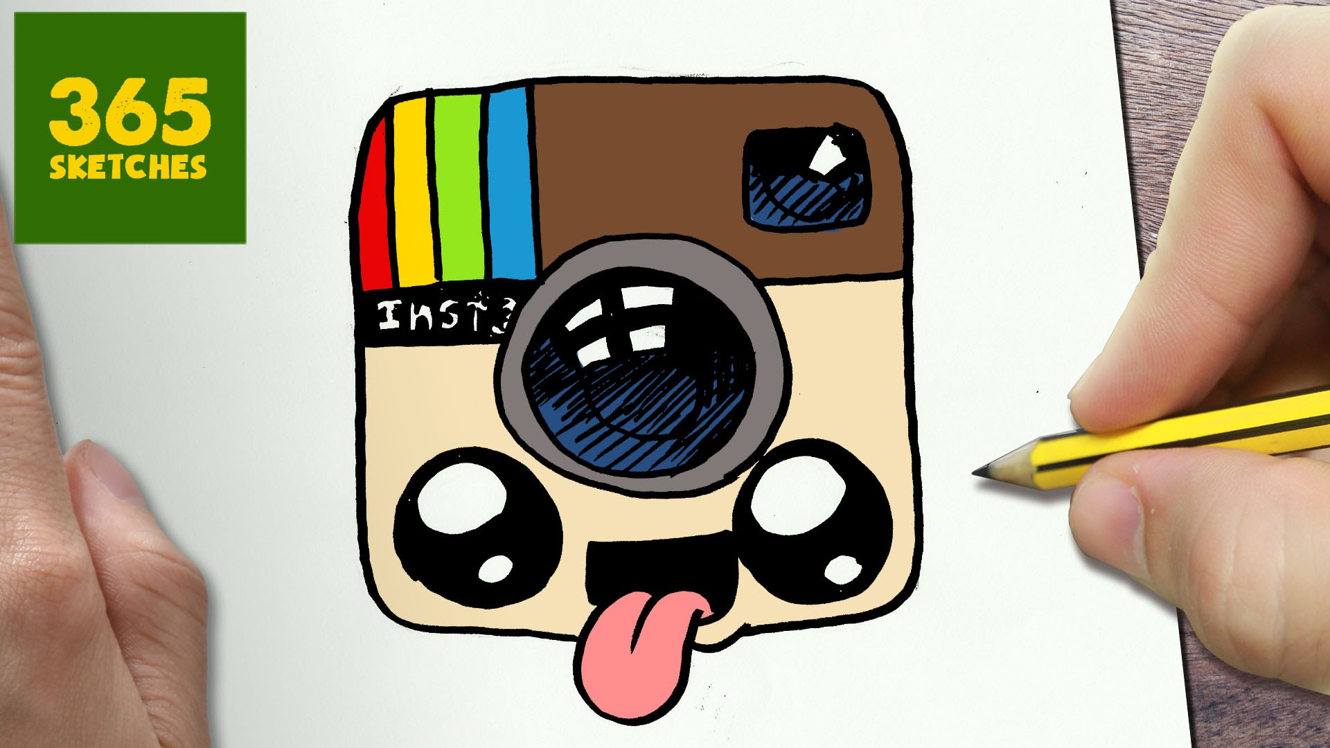 1920x1080 HOW TO DRAW A LOGO INSTAGRAM CUTE Easy Step By Drawing