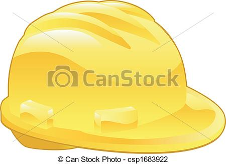 450x327 Shiny Yellow Hard Hat Illustration. An Illustration Of A Vector