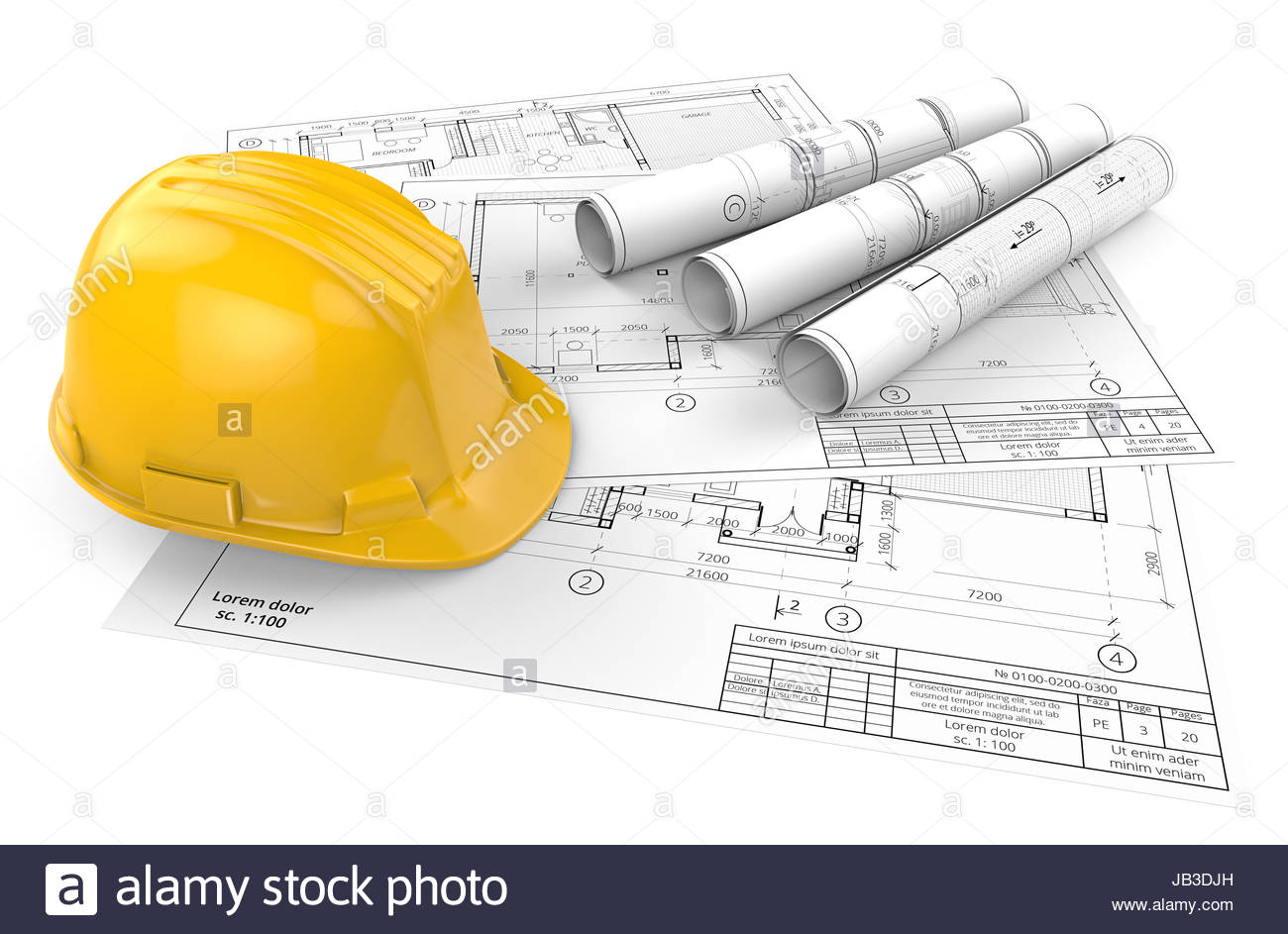 1300x943 Yellow Hardhat On Top Of Generic Architectural Blueprints