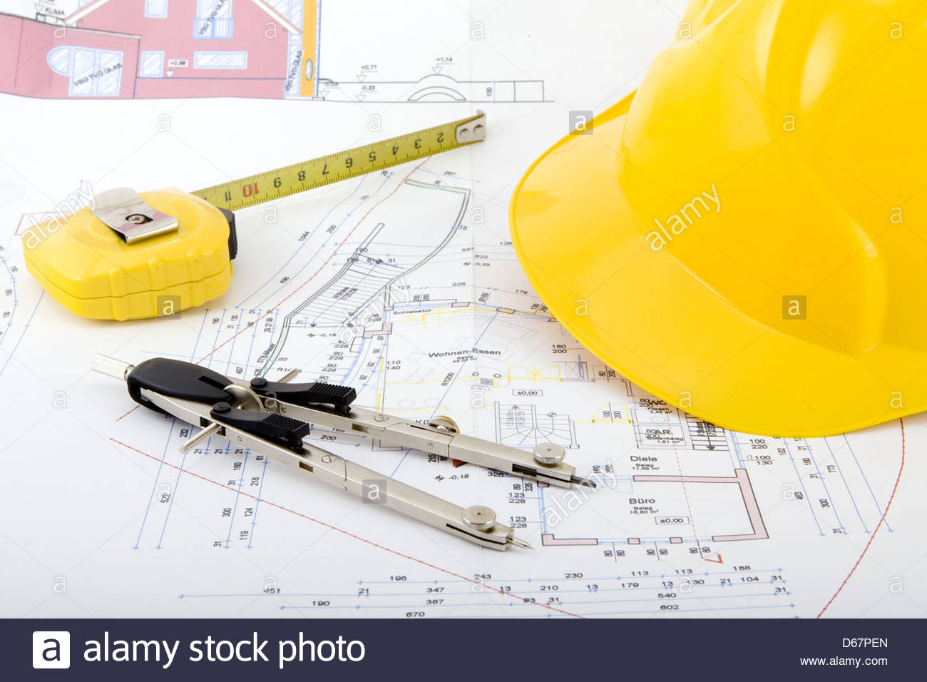 1300x956 Tape Measure,hardhat,drawing Compass,helmet,technical Drawing