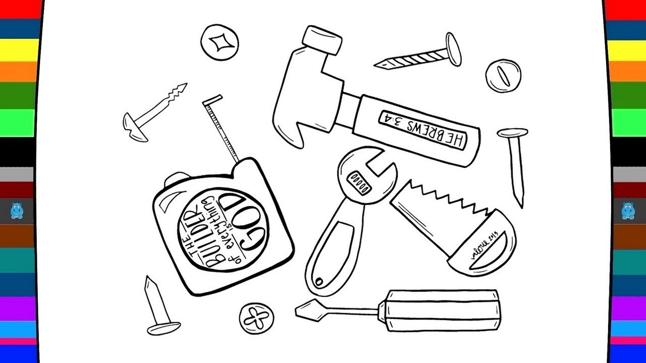 1280x720 Hardware Tools Coloring Pages Drawing And Coloring Pages