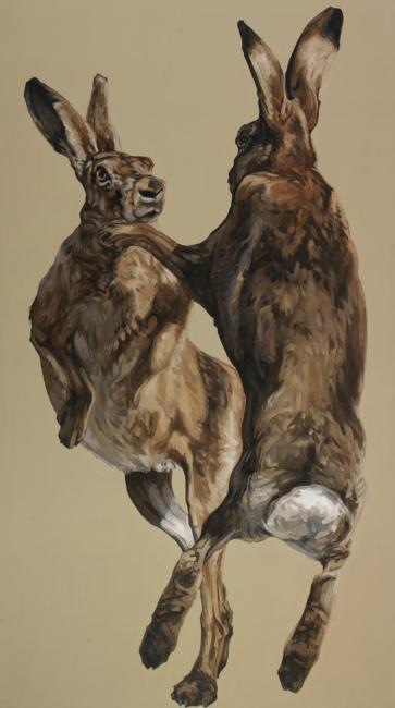 363x650 13. Boxing Hares Alexander Meddowes Fine Art Broker Alexander