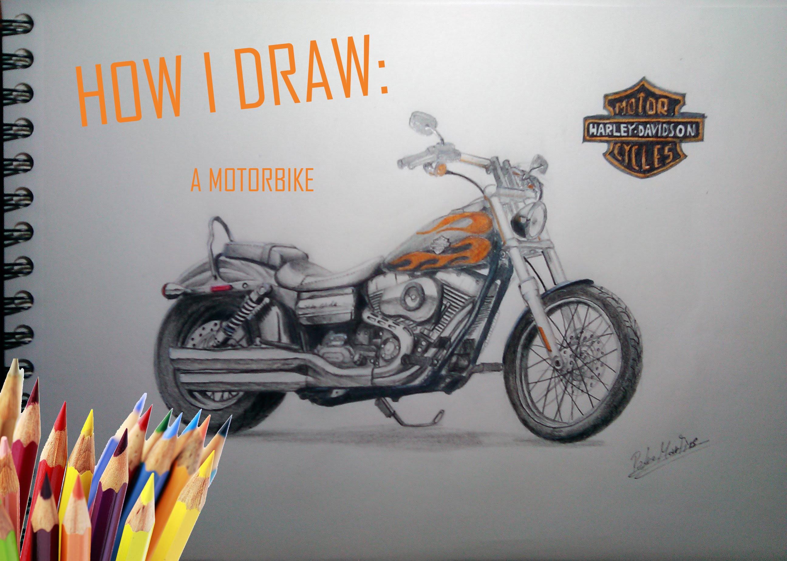 2592x1848 Drawing A Harley Davidson