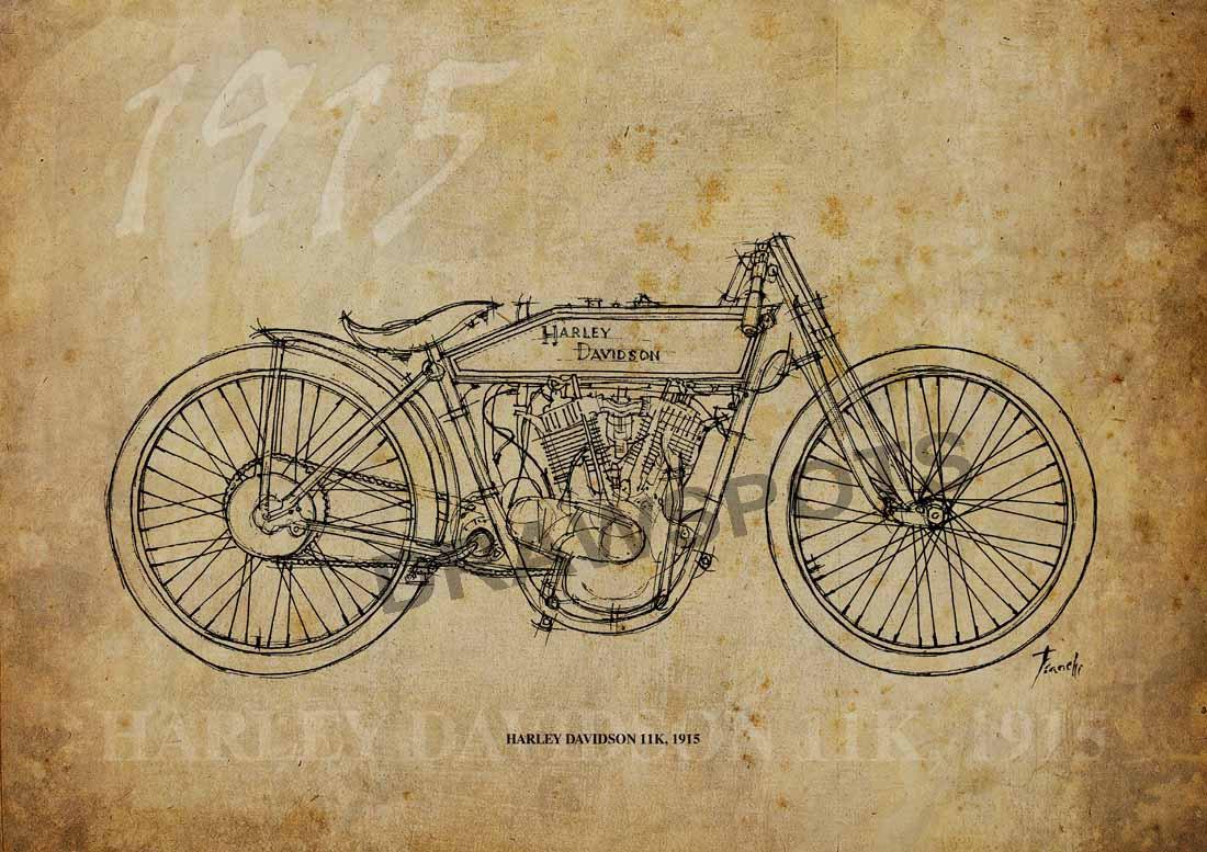 1100x777 Harley Davidson 11k 1915 Based On My Original Handmade