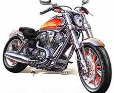 227x184 Motorcycle By Alienoffspring Colored Pencil Car Amp Vehicle