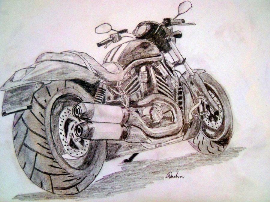 900x675 Harley Davidson V Rod Sketch By Artistsac
