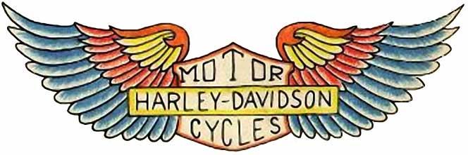 664x221 And Harley Davidson Tattoos