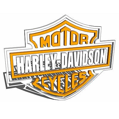 400x400 Harley Davidson Logo 3d Model