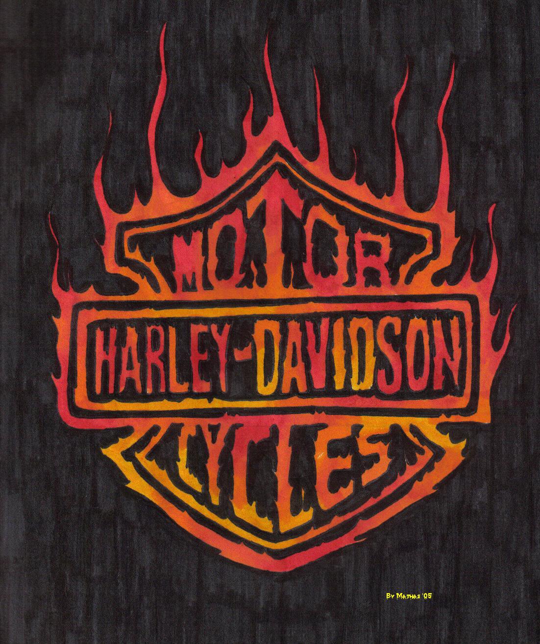 Harley Davidson Logo Drawing At Getdrawings Free Download