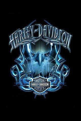 320x480 Harley Davidson Drawing Logo