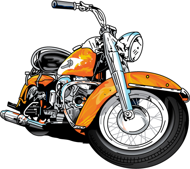 612x545 Harley Davidson Motorcycle Clipart 2