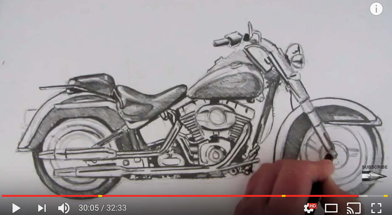 1252x686 How To Draw A Harley Davidson Motorcycle