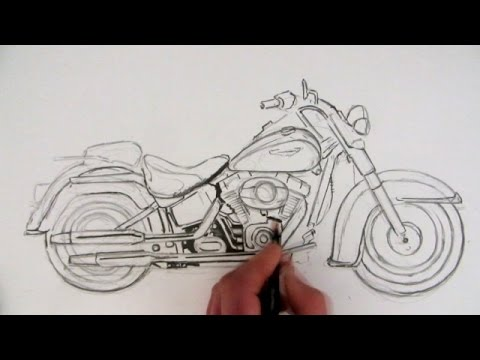 480x360 How To Draw A Harley Davidson Motorcycle Time Lapse