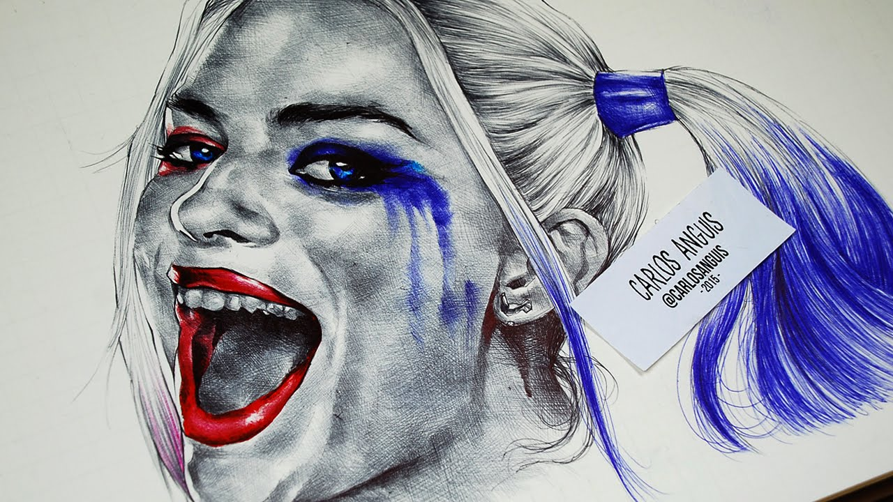 1280x720 Drawing Harley Quinn (Suicide Squad)