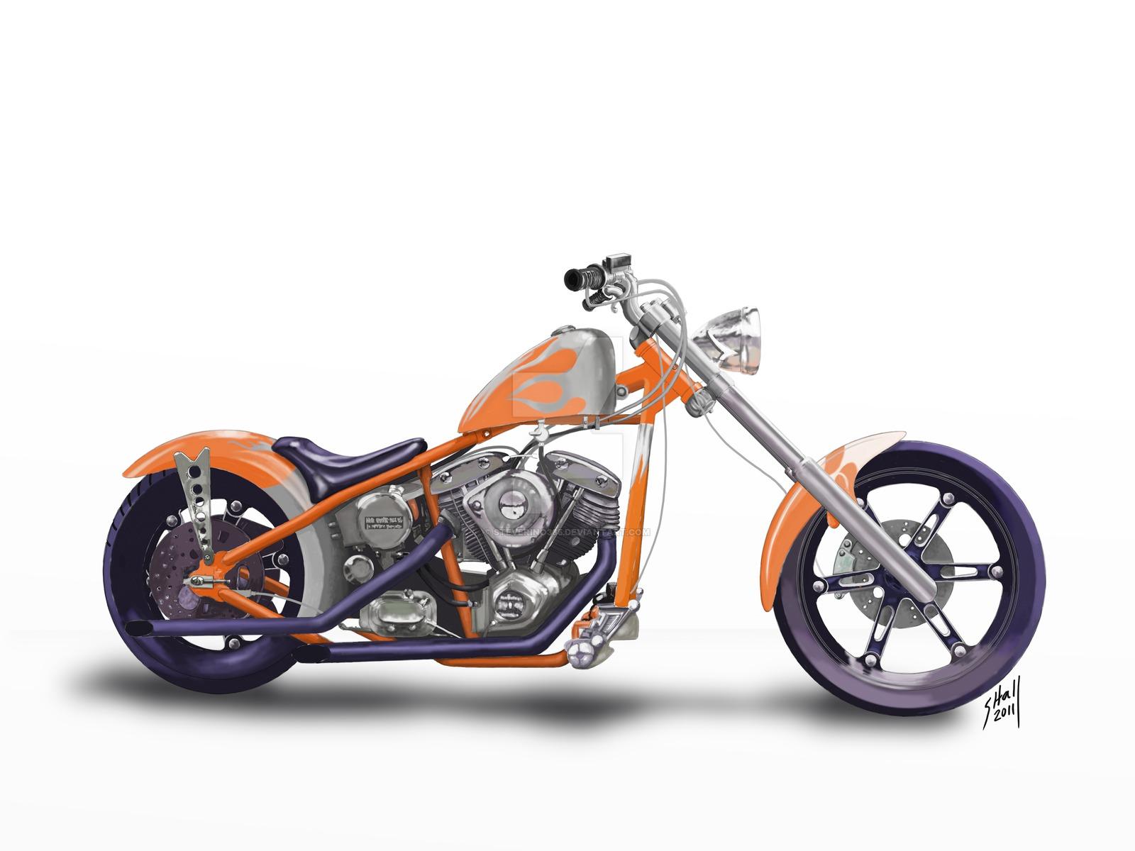 Harley Motorcycle Drawing on Knucklehead Engine Drawings