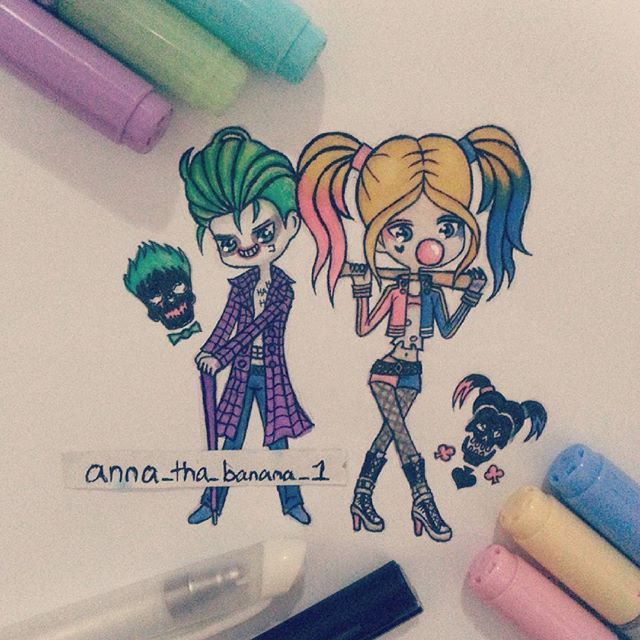 Harley Quinn And Joker Drawing At Getdrawings Com Free For