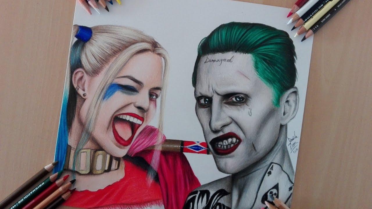 Harley Quinn And Joker Drawing At Getdrawings