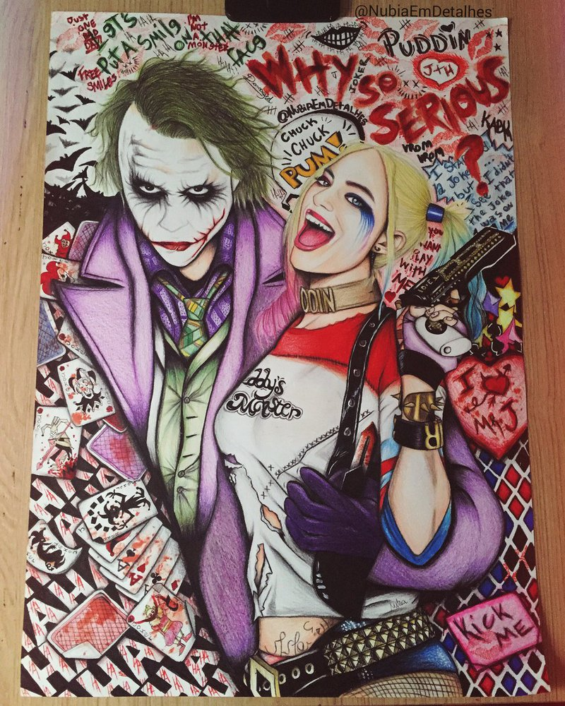 800x1000 The Joker And Harley Quinn By Nubiaemdetalhes