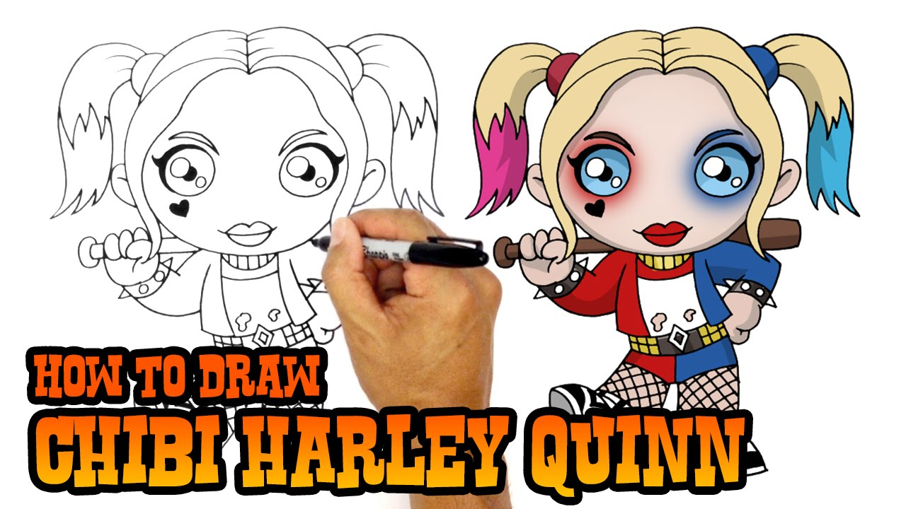 1280x720 How To Draw Harley Quinn Suicide Squad