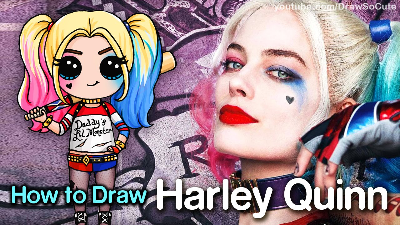 1280x720 How To Draw Suicide Squad Harley Quinn Chibi