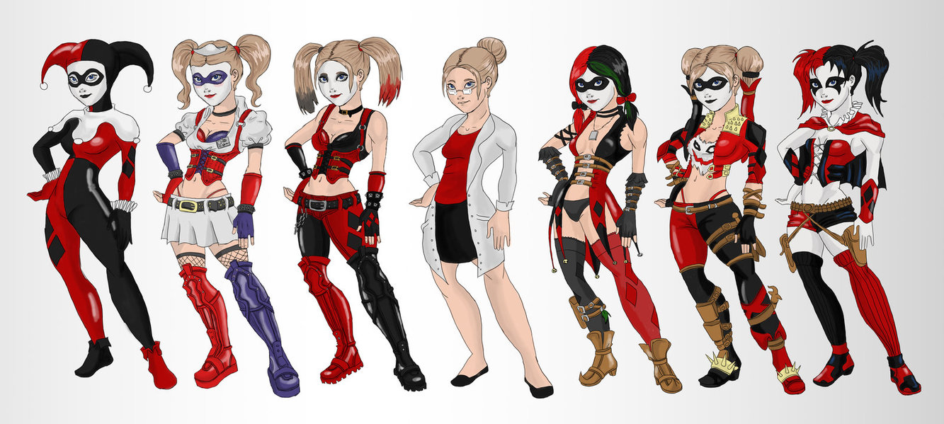 1333x599 Harley Quinn Evoultion By Ladydeadquinn