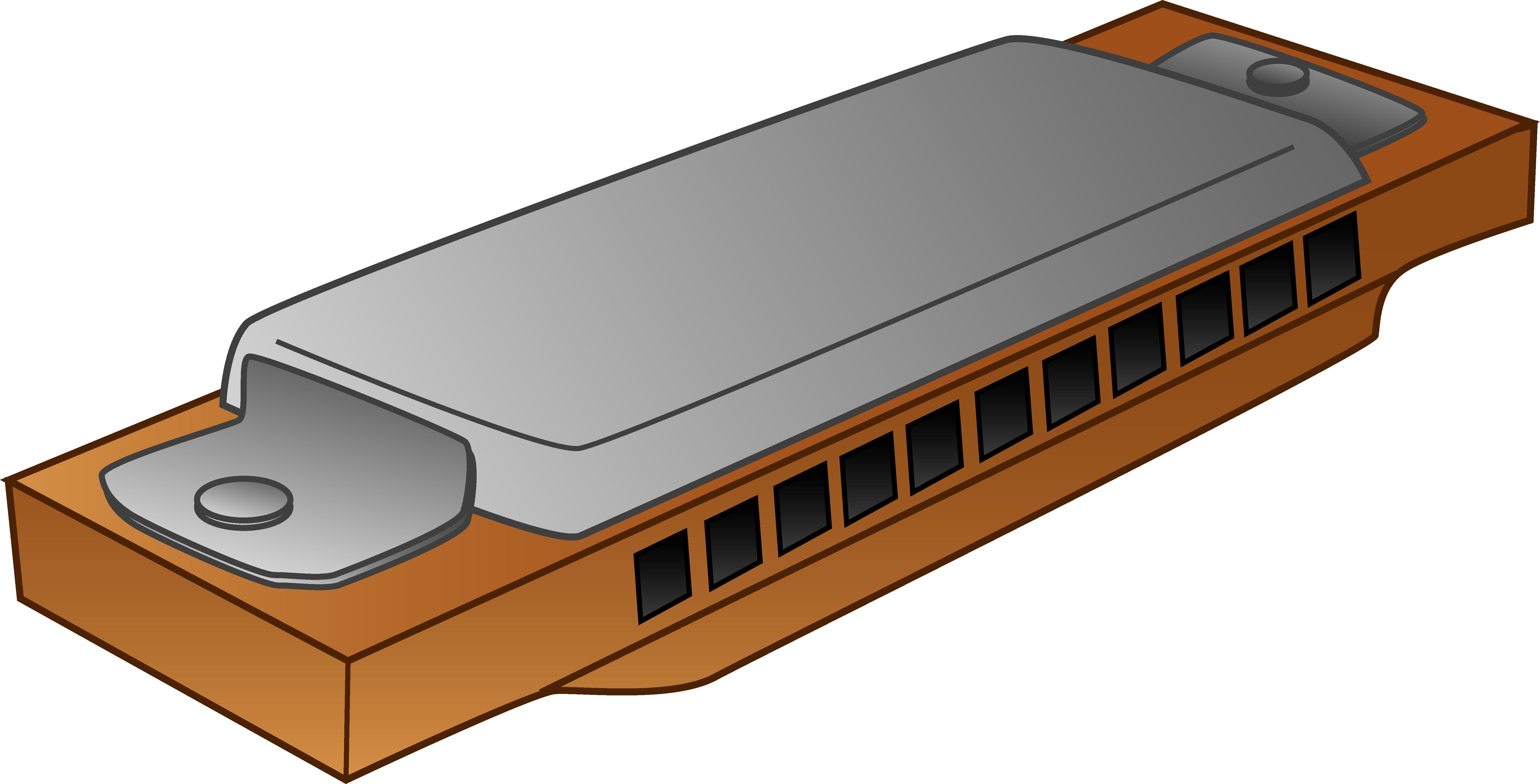 6356x3238 Harmonica Clipart Design
