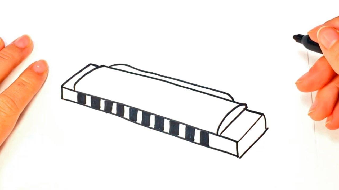 1280x720 How To Draw A Harmonica Harmonica Easy Draw Tutorial