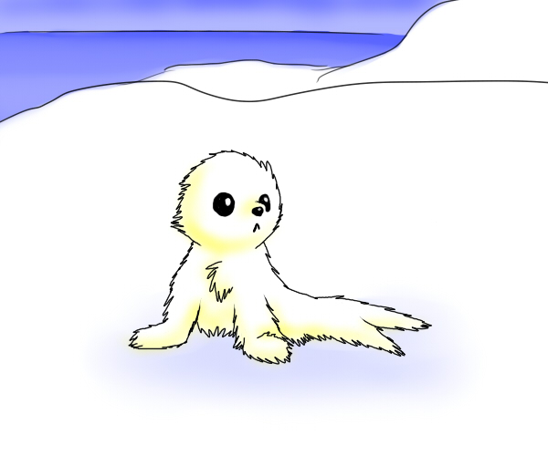 600x500 Harp Seal Pup By Hearttheglaceon