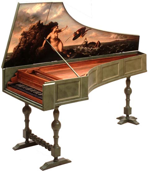 477x551 Drawing Of A Flemish Double Manual Harpsichord Stand
