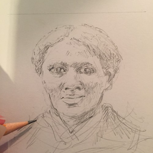 500x500 Drawing Harriet Tubman Betsy Streeter
