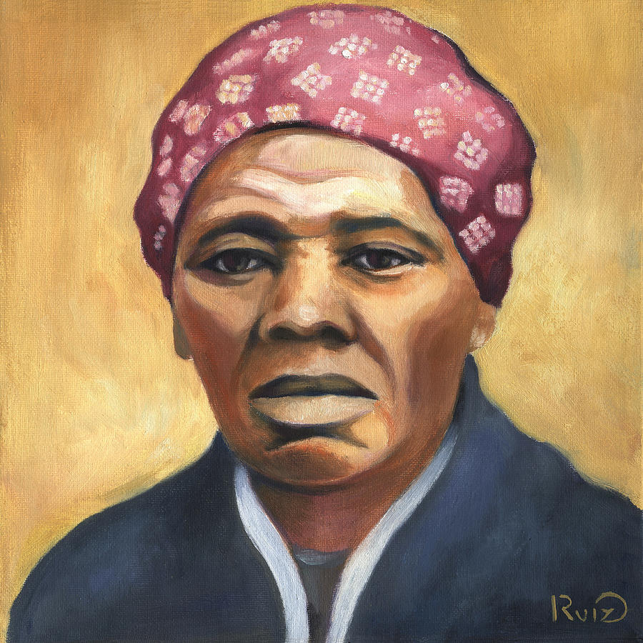 900x900 Harriet Tubman Painting By Linda Ruiz Lozito