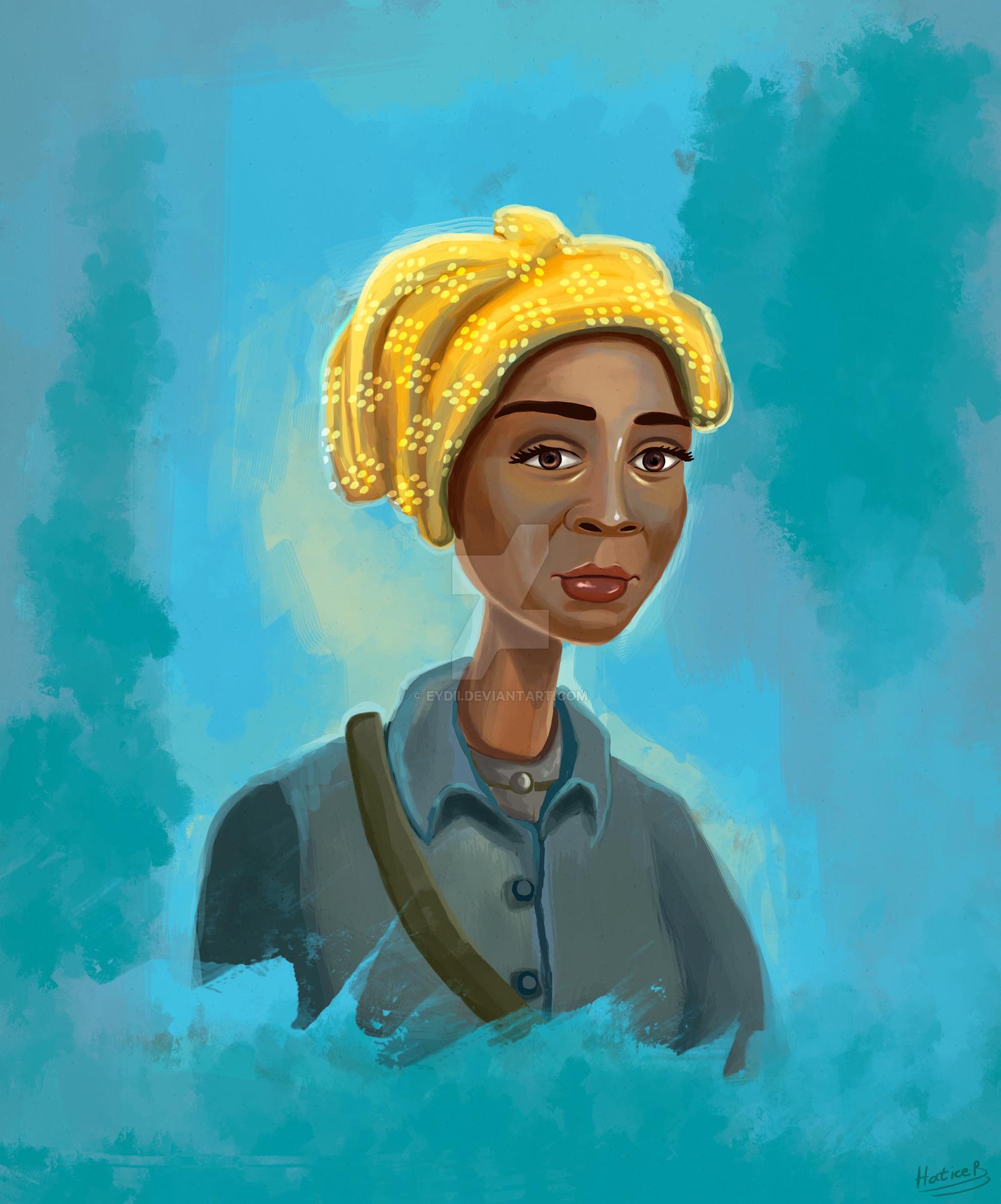 1600x1924 Harriet Tubman Portrait Painting By Eydii