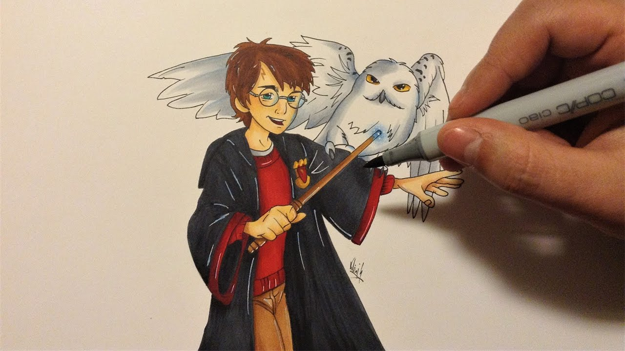 1280x720 Drawing Harry Potter ( Cartoon Version )