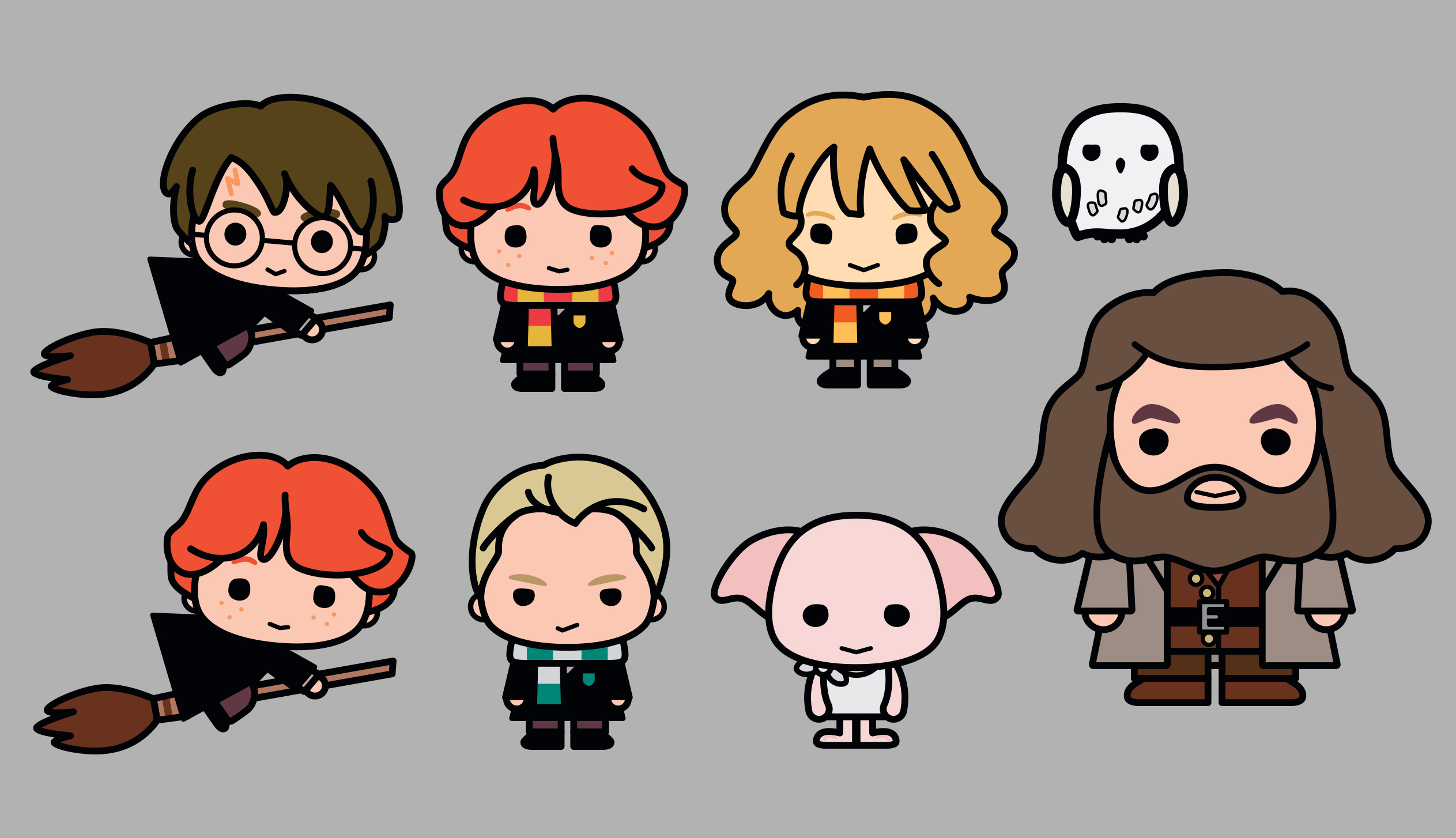 2526x1454 Harry Potter Characters Re Imagined In Adorable New Designs