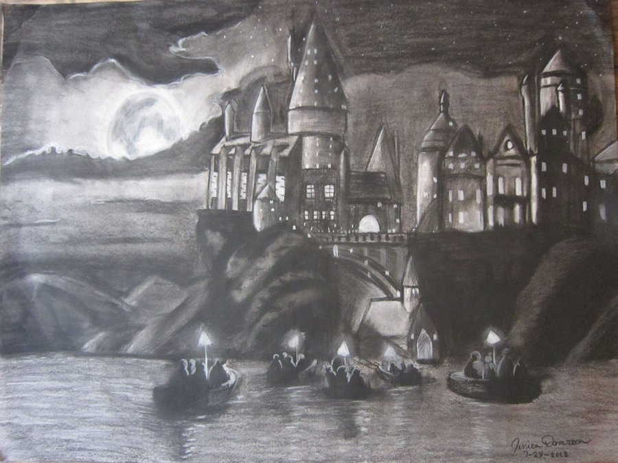 Harry Potter Castle Drawing At Getdrawings Free Download