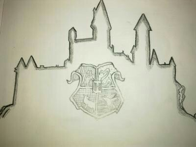 400x300 Hogwarts Castle Line Art Drawing Hogwarts