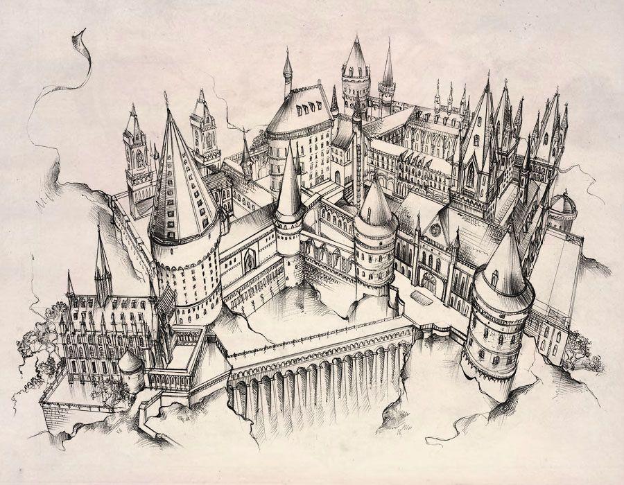 900x700 Hogwarts Castle Byette On Ink Drawing