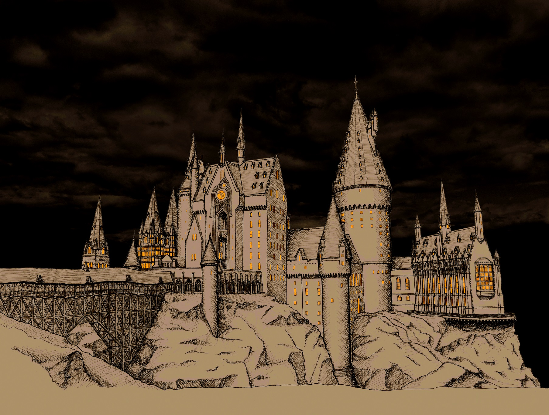 1807x1368 The Architecture Of Hogwarts Castle Part 2 Mountain Architects
