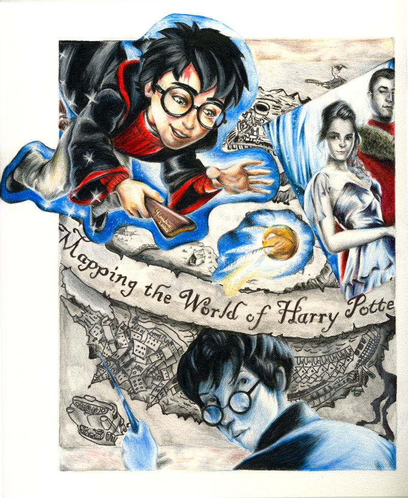 800x976 Harry Potter Drawn Collage By Sicko7